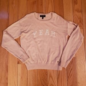 Girls Juicy Couture Light Pink Sweater with YEAH